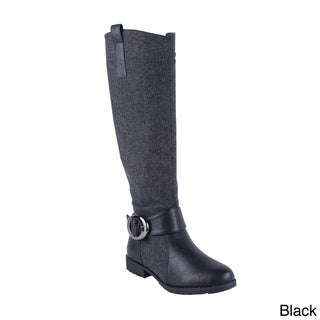 Anna Women's NB200-49 Fabric Shaft Knee High Boots