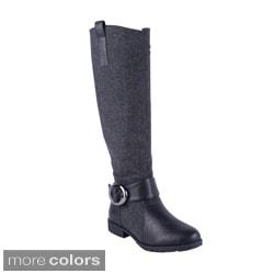 Anna Women's NB200-49 Fabric Shaft Knee High Boots