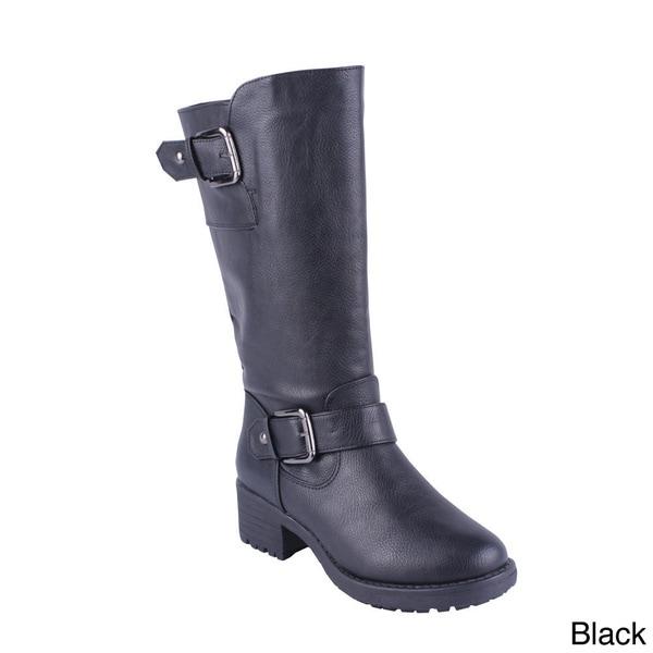 Anna Women's 'NB200-51' Mid-calf Block Heel Boots