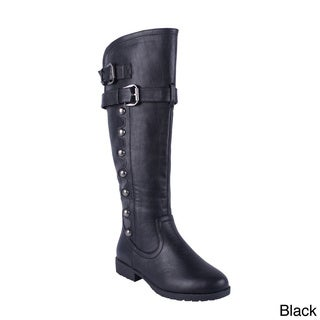 Anna Women's 'NB200-58' Side Studded Knee-high Boots