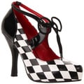 Funtasma Women's 'Harlequin-04' Diamond Pattern Harlequin Pumps
