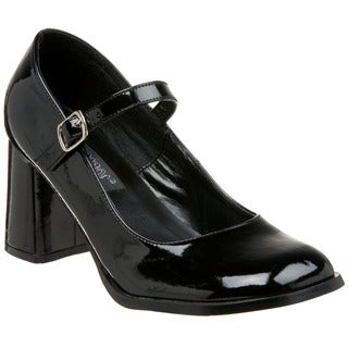 Funtasma Women's 'Gogo-50' Black Patent Block Heel Pumps