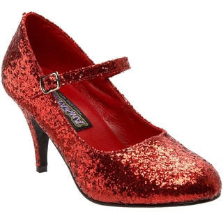 Funtasma Women's 'Glinda-50G' Red Glitter Pumps