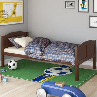 CorLiving Concordia Espresso Solid Wood Single Bed