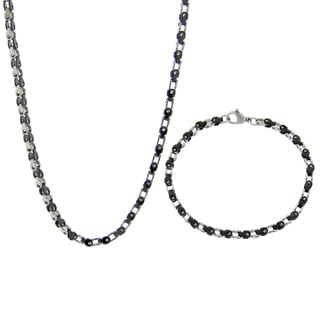 Stainless Steel 3.5-mm Bike Chain Jewelry Set