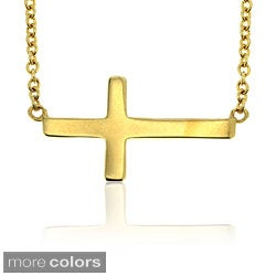 Pretty Plus Sterling Silver Sideways Cross Necklace