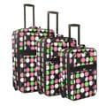 World Traveler Multi Dot Expandable 3-piece Upright Luggage Set