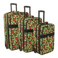 World Traveler Lady Bug Expandable 3-piece Upright Luggage Set