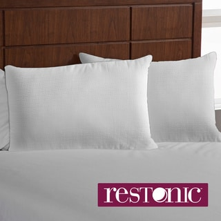 Restonic Downaire Zippered Bed Pillow Enhancer (Set of 2)