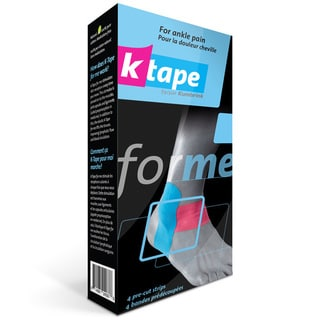 K Tape 4-count Pre-cut Ankle Kinesiology Tape (Pack of 2)