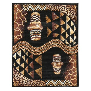 African Adventure Drums Area Rug (5' x 7')