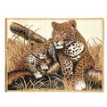African Adventure Cheetah and Cub Area Rug (5' x 7')
