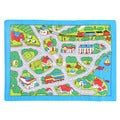 Paradise Street Map Grey Area Rug (5' x 7')