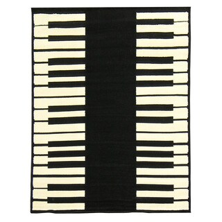 African Adventure Piano Area Rug (5' x 7')