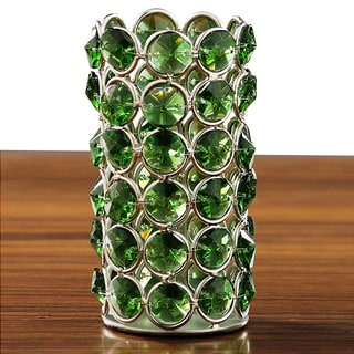 Green Crystal Beaded Tealight Holder