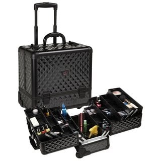 Seya Black Diamond Professional Rolling Makeup Case with 6 Trays