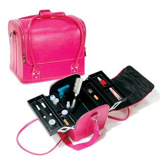 Seya Pink Roll Top Makeup Case with Straps