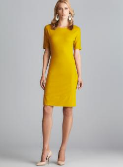 Joan Vass Dolman Sleeve Ponte Dress