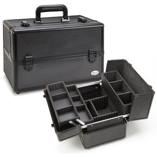 Seya All Black Aluminum Professional Makeup Case