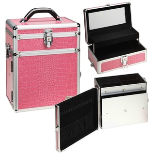 Seya 2-in-1 Pink Gator Makeup and Jewelry Travel Case