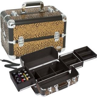 Seya Chocolate Leopard Makeup and Nail Polish Case