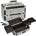 Seya White Leopard Makeup Case with Nail Polish Storage