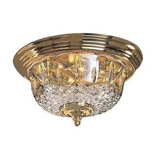Richmond 2-light Polished Brass Flush Mount