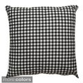 Checkered 20x20-inch Decorative Throw Pillow