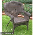 International Caravan Camelback Resin Wicker Patio Chairs (Set of 2)
