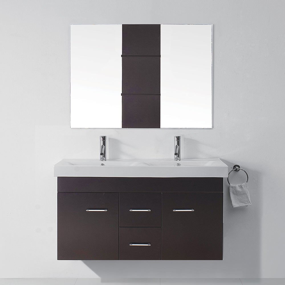Virtu USA Opal 48 Inch Double Sink Bathroom Vanity Set Overstock Shopping