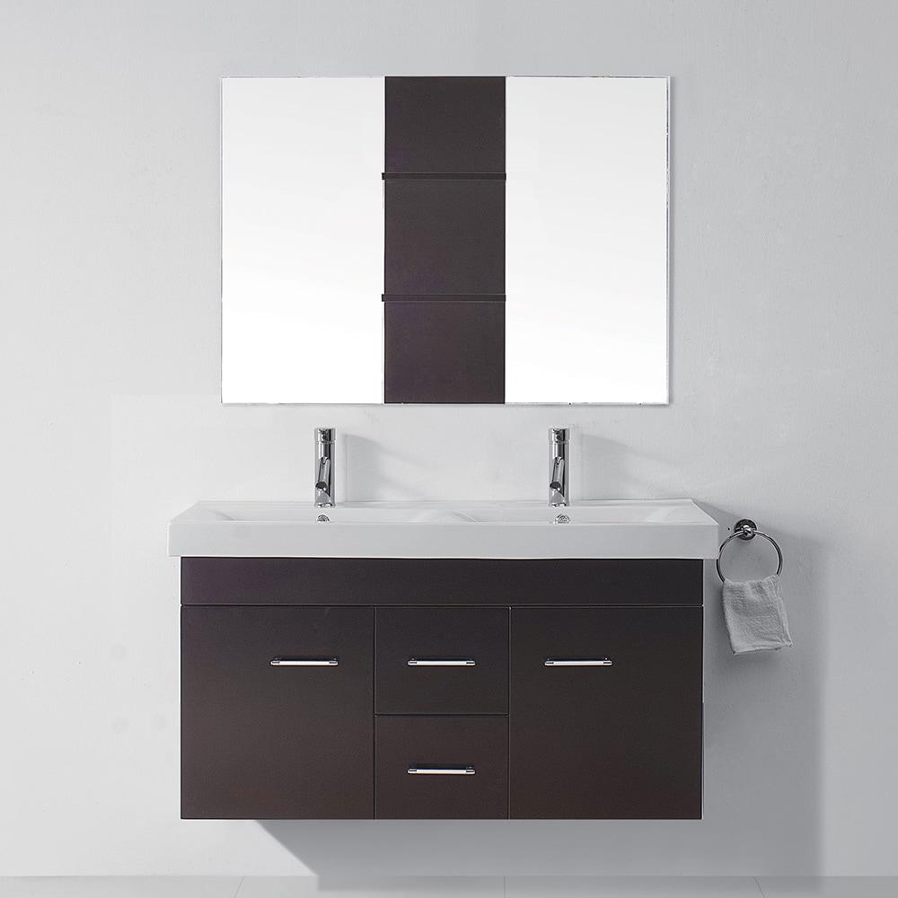 Virtu Usa Opal 48 Inch Double Sink Bathroom Vanity Set Overstock Shopping Great Deals On