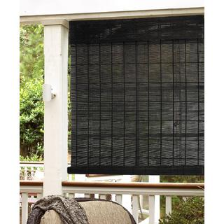 Espresso Natural Bamboo Roll Up Shade