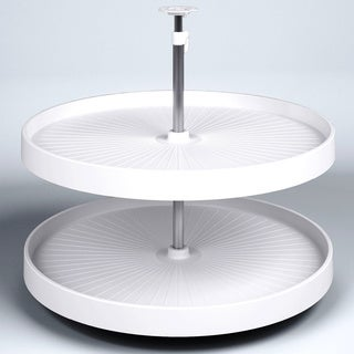 Vauth-Sagel Lazy Susan and White Round Rotating Trays