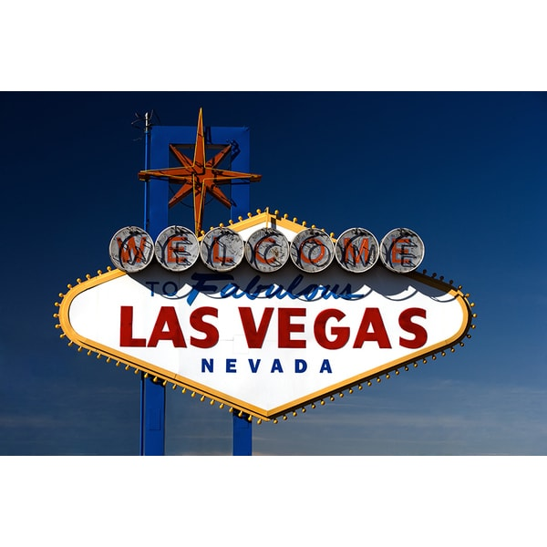 'Welcome to Fabulous Las Vegas, Nevada Sign' Photography Canvas Print