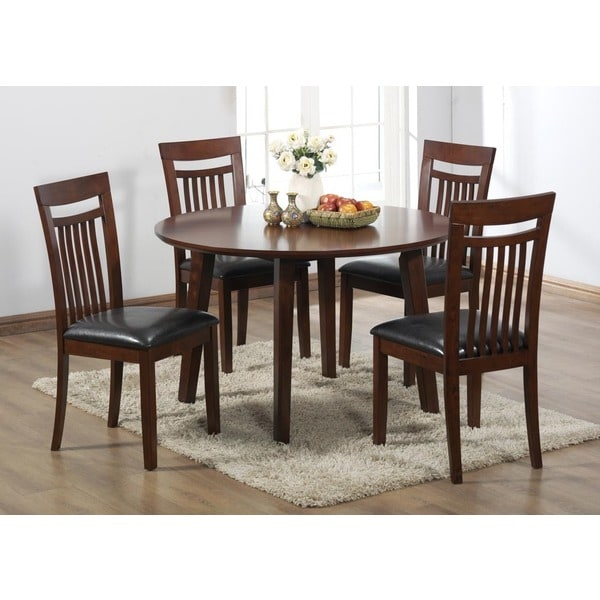 Antique oak veneer round dining table 15620226 shopping great deals on - Oak veneer dining table ...