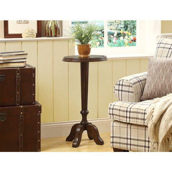 Medium Walnut Veneer Accent Table