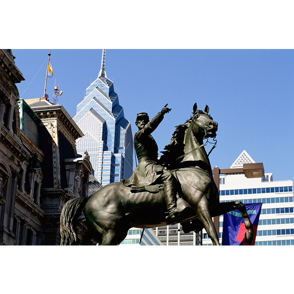 'Statue of Gettysburg Soldier, Philadelphia City Hall' Photography Canvas Print