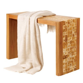 Angora Wool Linen-colored Throw Blanket