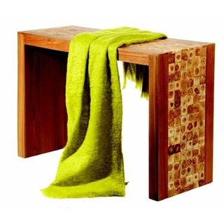 Lime Mohair Throw
