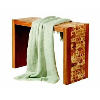 Light Green Mohair Throw