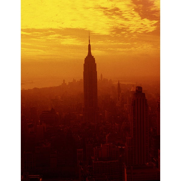 'Empire State Building at Sunset, New York City' Photography Canvas Print