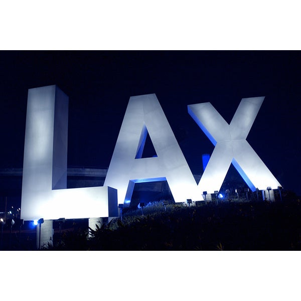 'LAX Airport Sign, Los Angeles, CA' Photography Canvas Print