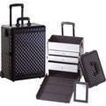 Seya Professional Black Diamond Rolling Makeup Case