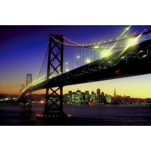 'San Francisco-Oakland Bay Bridge' Photography Canvas Print