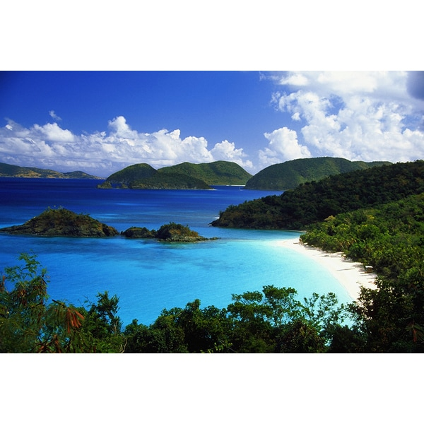 'Trunk Bay, St. John, U.S. Virgin Islands, Caribbean' Photography Canvas Print