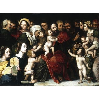 'Jesus Christ with the Children' Canvas Print