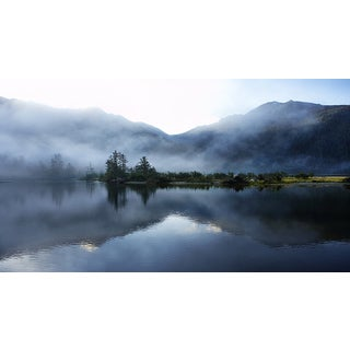Thomas Northcut 'Morning Light and Mist Across Sound and Mountains' Photography Canvas Print