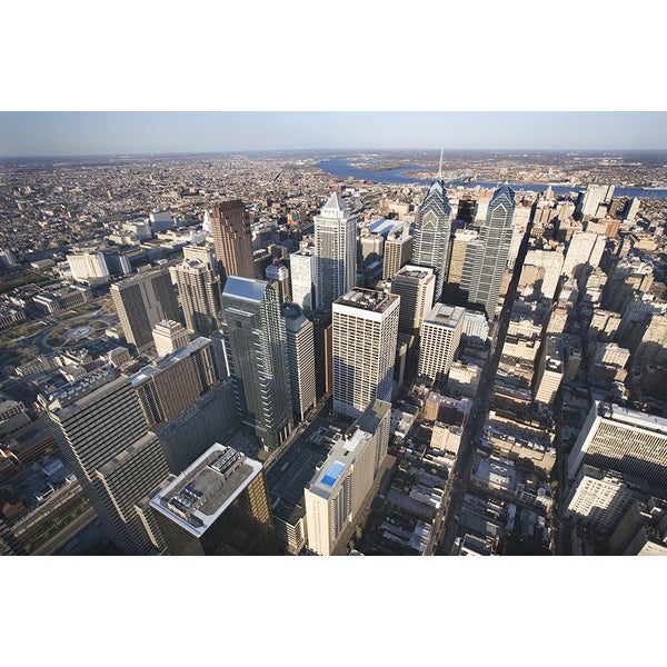 'Aerial View of Philadelphia, Pennsylvania' Canvas Photograph Print