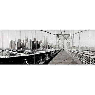 'Panoramic Brooklyn Bridge, New York City, Skyscraper' Photography Canvas Print
