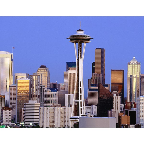 'Space Needle in Seattle, Washington' Photography Canvas Print